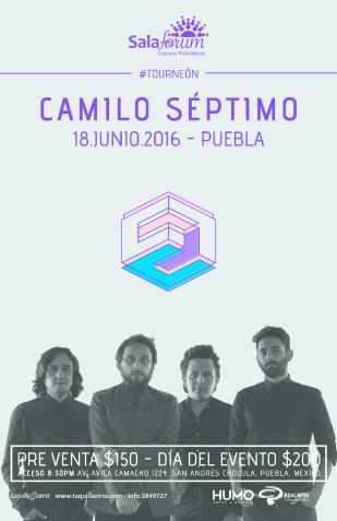 cartel Camilo Séptimo junio 2016