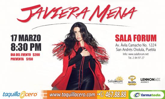 Javiera Mena en Puebla