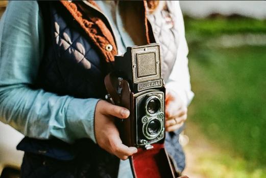 Una de las cámaras que utilizan para retratar