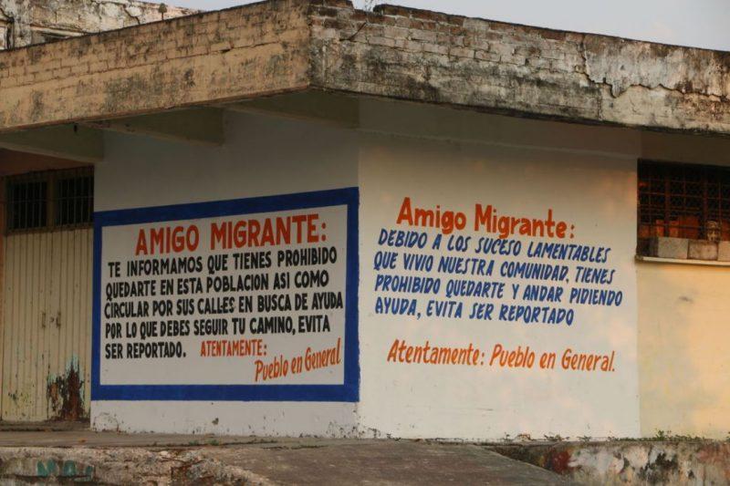 Muro contra migrantes en Oaxaca,México