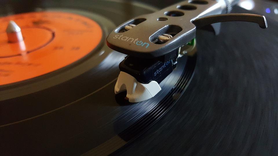Disco sinfonola canción de dos vinilo